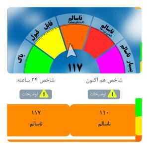 هوای ناسالم در مشهد در چهارمین روز پیاپی