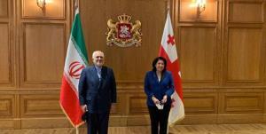 ظریف با رئیس جمهور گرجستان دیدار و گفت و گو کرد