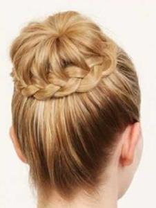 آموزش ساده ترین شنیون بافت مو فوری بسیار شیک