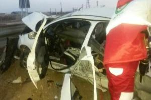 خواب آلودگی و سرعت غیرمجاز جان راننده دهگلانی را گرفت