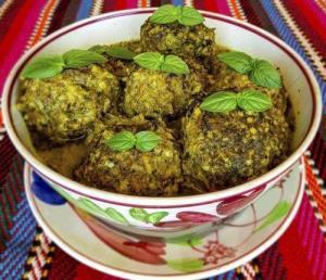 کوفته سبزی، غذای معروف و خوشمزه شیرازی