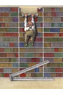 طنز/ گفت وگوی کتاب های یک کتابخانه
