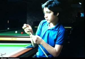 کودک ۱۱ ساله سیستان و بلوچستانی اعجوبه بینالمللی اسنوکر