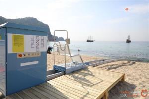افتتاح آسانسور دریایی برای معلولین در سواحل آلانیا ترکیه