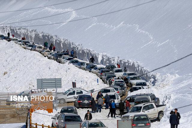 مسیر پیست اسکی همدان مسدود است