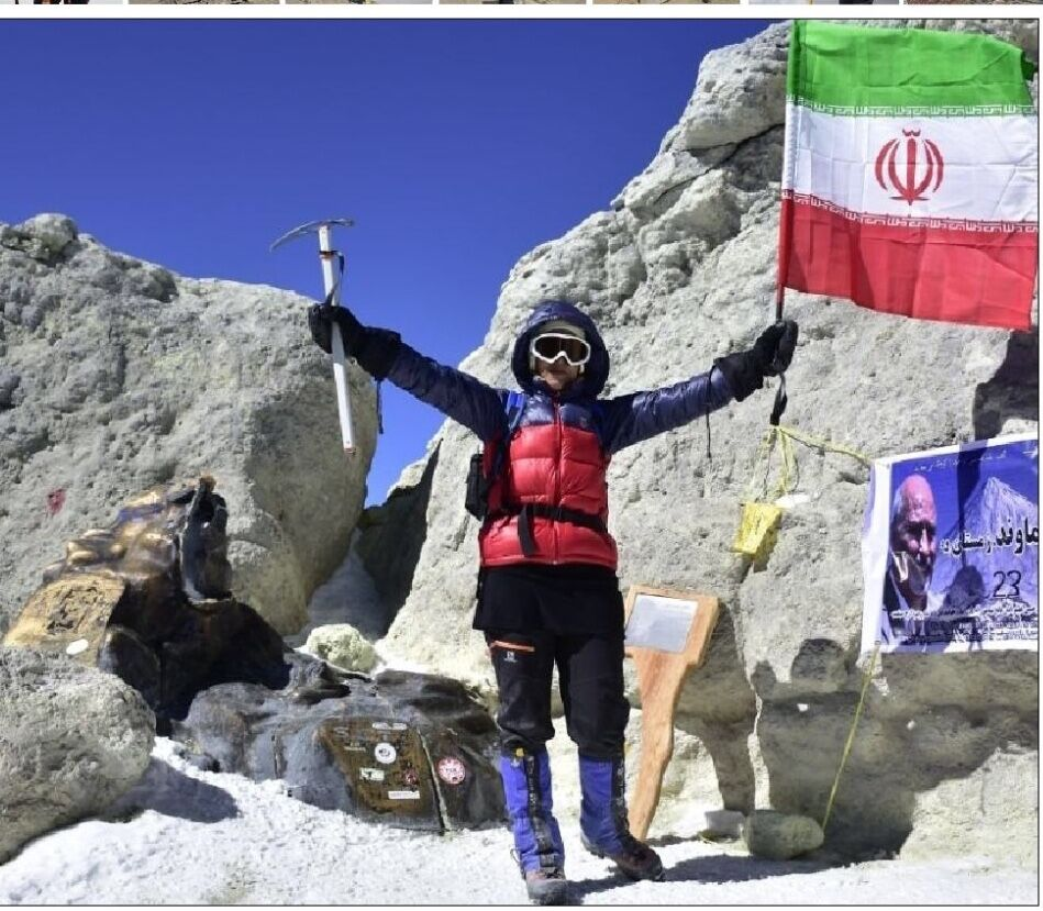 بانوی البرزی فاتح سیمرغ کوههای ایران شد