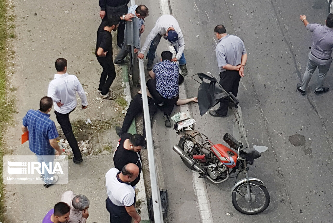۲۱۶ نفر در تصادف موتورسیکلت در قم مصدوم شدند