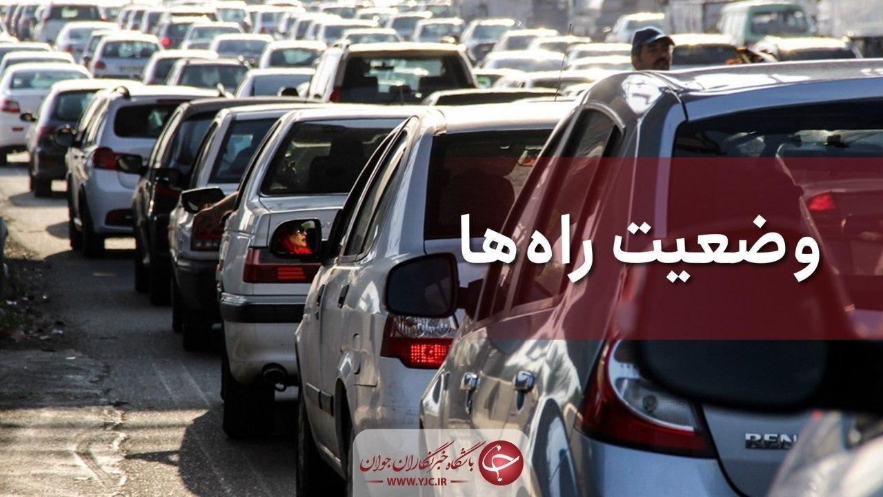 بارش باران در ۳ استان؛ ترافیک در آزادراه قزوین - کرج سنگین است