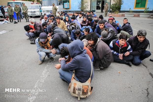 جمعآوری ۴۰ معتاد متجاهر در زنجان