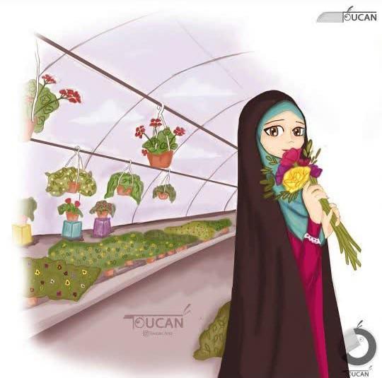 دختر با چادرش دلربا میشه :)))