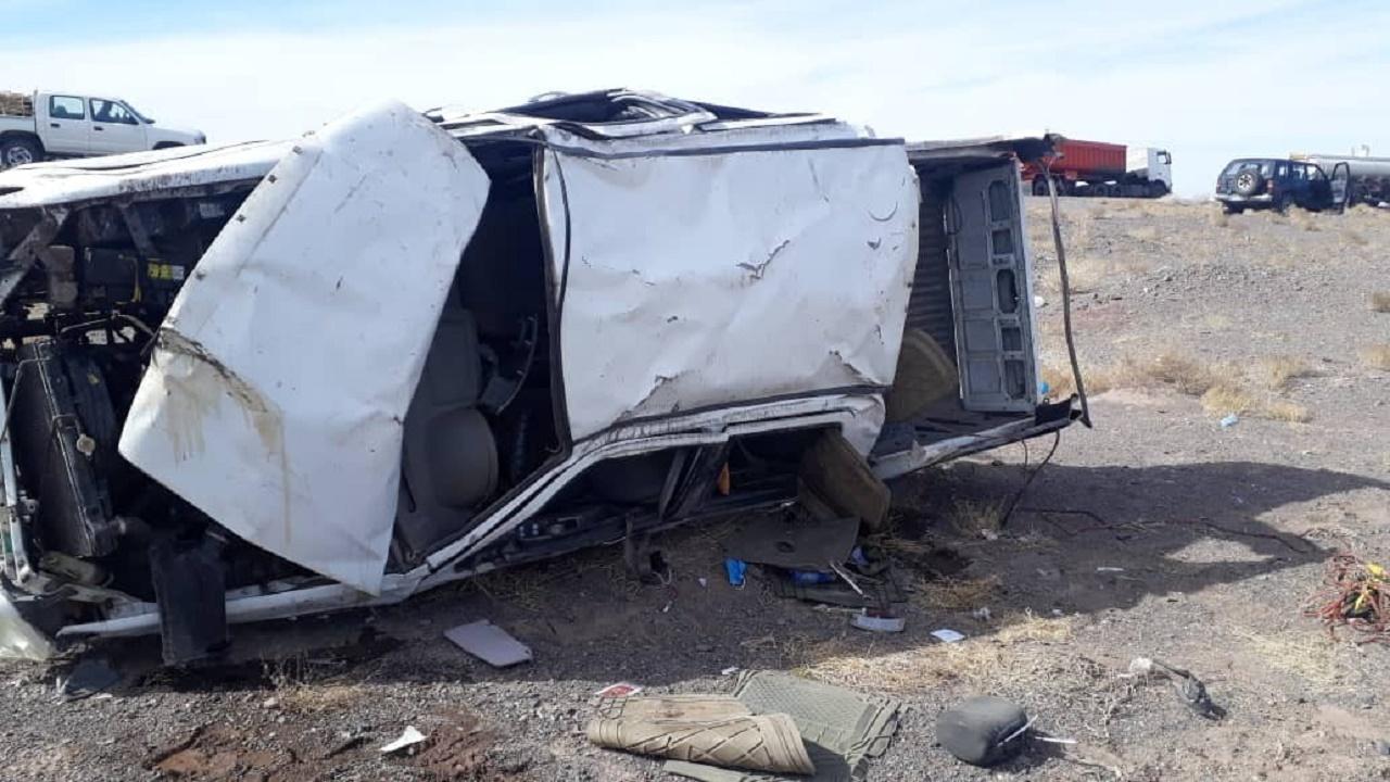 واژگونی خودرو کاپرا با ۳ کشته و زخمی در رفسنجان