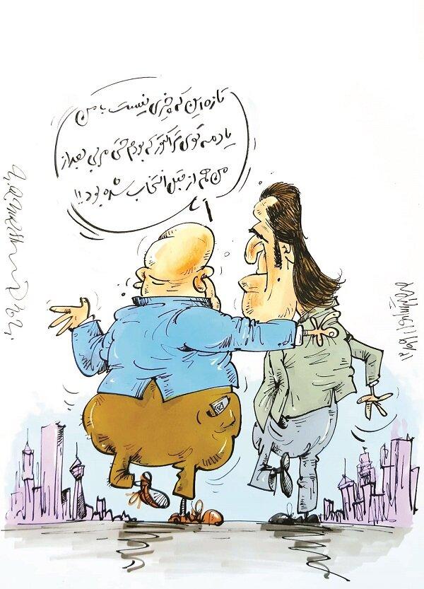 کاریکاتور/ کنایه علی منصوریان به علی کریمی!