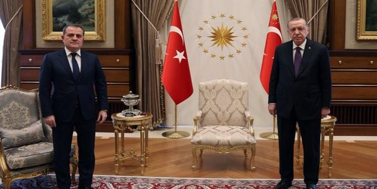 وزیر خارجه آذربایجان با اردوغان دیدار کرد