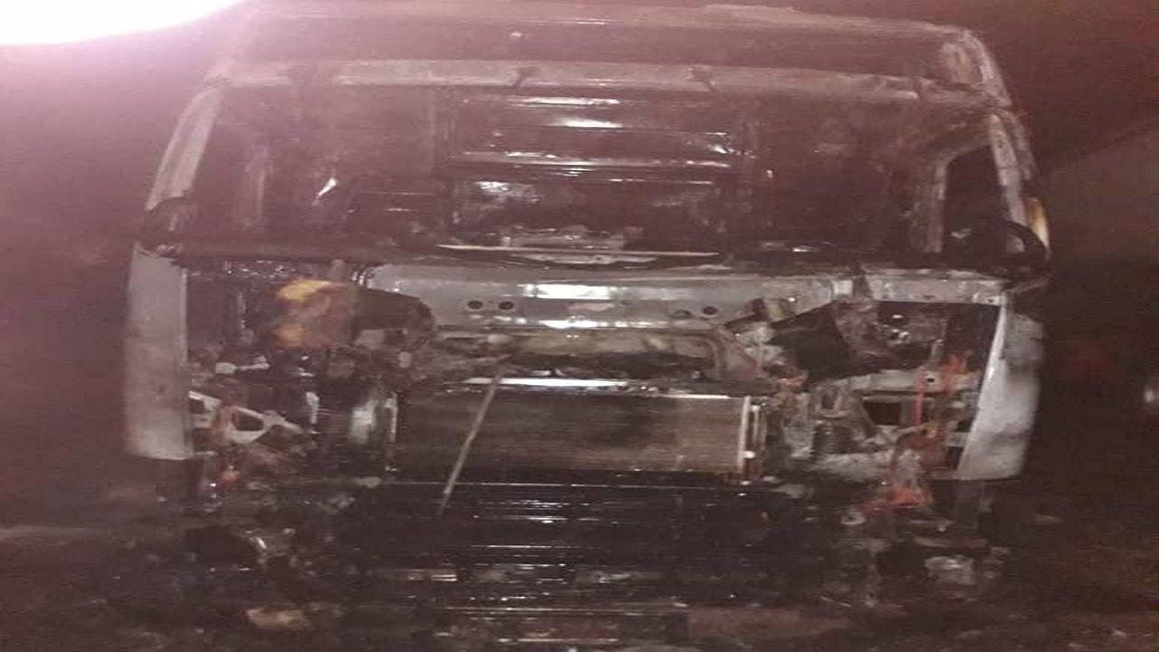 جزغاله شدن یک کامیون در ساری