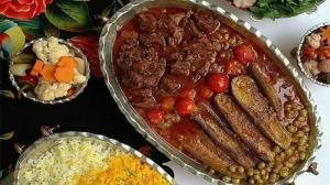خورش کدو مسما مجلسی خوشمزه با گوشت یا مرغ