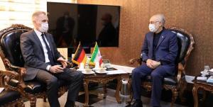 سفیر آلمان در تهران با رییس سازمان انرژی اتمی دیدار کرد