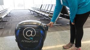 «گیتا» به مسافران فرودگاه غذا میدهد