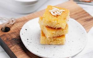 صبحانه/ بسبوسه کیک مقوی و شهددار مدیترانه ای