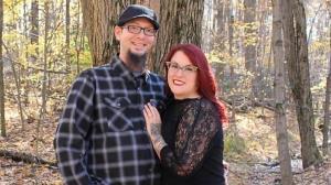 لباس عجیب زوج آمریکایی در جشن نامزدیشان