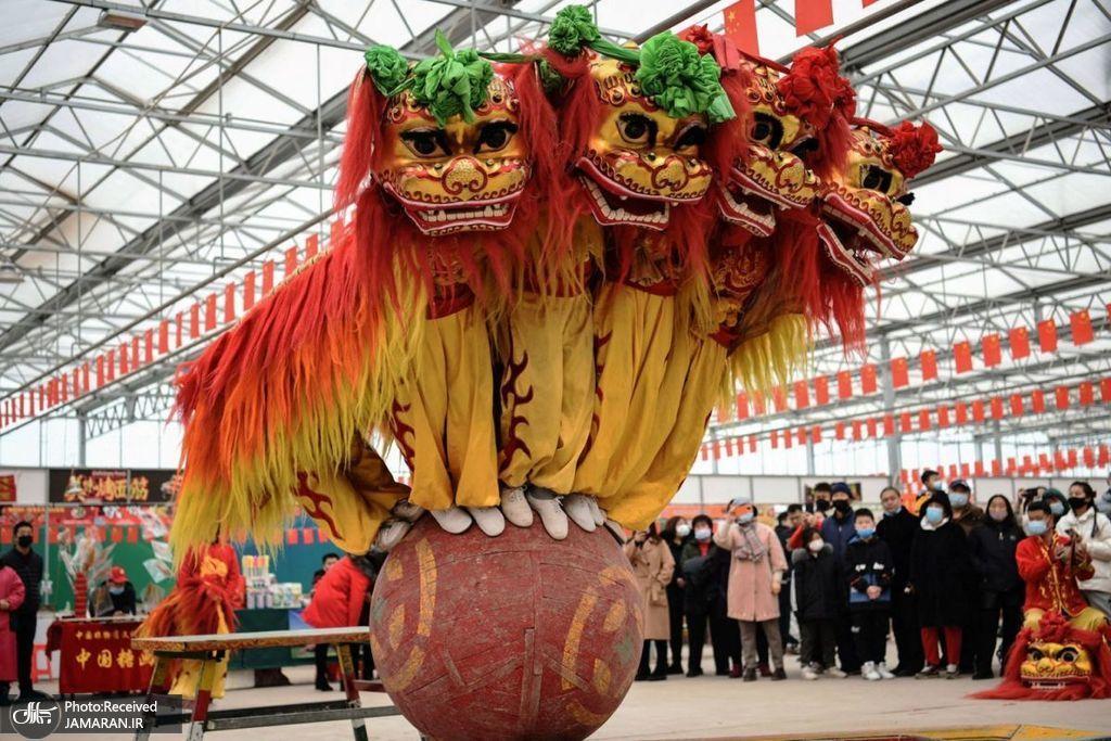 رقص شیر در جشن سال نو چینی