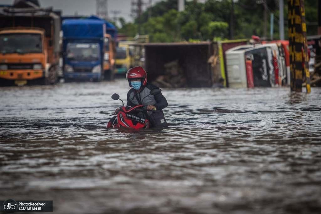 جاری شدن سیل در جاوا، اندونزی