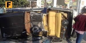 سانحه شدید رانندگی در محور ناهارخوران با ۳ مجروح
