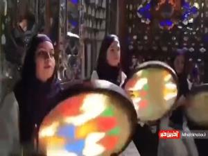 هنرنمایی دختران دف نواز با آهنگ محسن چاوشی