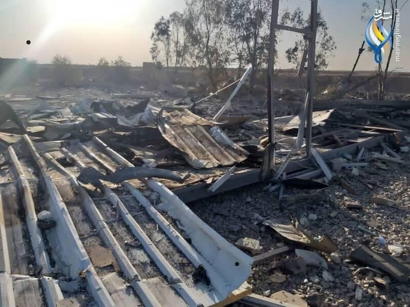 محل بمباران جنگندههای آمریکا در مرز سوریه و عراق