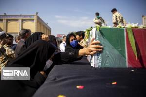 پیکر شهید نیروی انتظامی در زاهدان تشییع شد