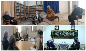 وزیر بهداشت با مراجع و آیات عظام در قم دیدار کرد