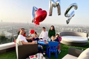 روز دلانگیز رونالدو و خانواده در ارتفاع رویایی