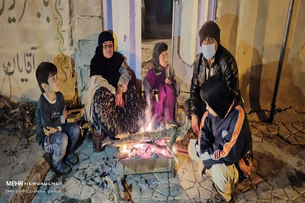 عکس/ سوز سرمای شبانه بر کالبد سی سخت
