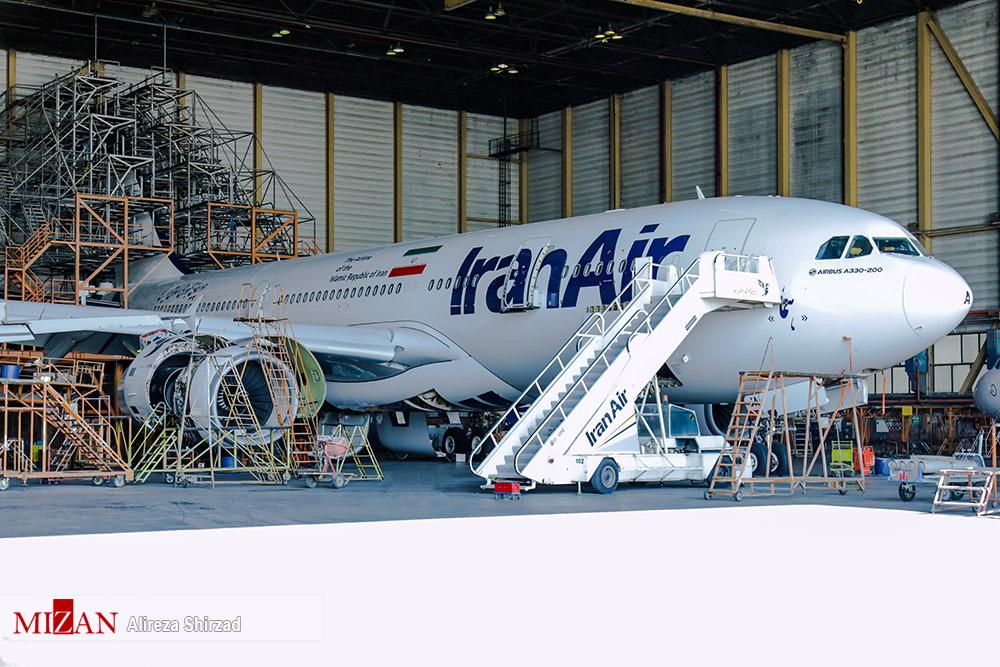 عکس/ چک سنگین هواپیمای ایرباس ۳۳۰ 