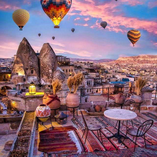 نمایی زیبا از «کاپادوکیا» ترکیه