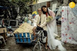 جشن عروسی زوج بیخانمان پس از ۲۴ سال