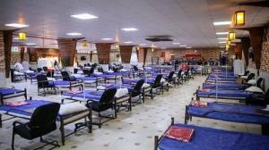 هلال احمر خوزستان برای بیماران کرونایی نقاهتگاه برپا میکند