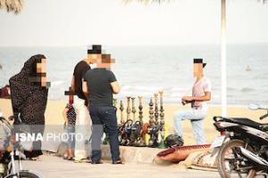 برخورد قاطعانه با عرضهکنندگان قلیان در ساحل بندرعباس