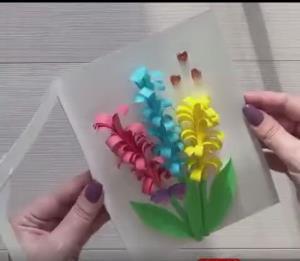 کارت پستال گل برجسته برای هدیه دادن