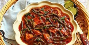 خورش لوبیا سبز یک غذای خوشمزه و مت�اوت به روش رستورانی