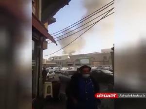 آتش سوزی در محدوده دارالضیافه حرم حضرت عبدالعظیم حسنی(ع)