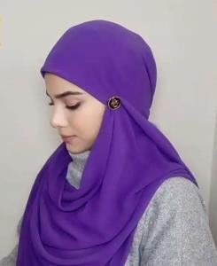 آموزش ترفند بستن روسری فوق العاده شیک و مجلسی