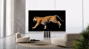 تلویزیون ۱۶۵ اینچی با تکنولوژی میکرو LED و تاشو