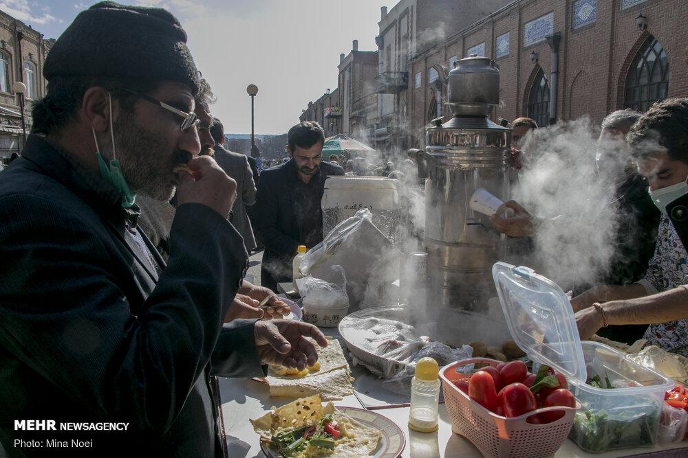 عکس/ شلوغی بازار تبریز در وضعیت زرد کرونایی