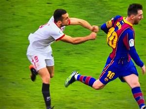 فرار مسی از پسگردنی و کفگرگی!