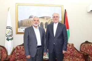 دیدار سفیر ایران در قطر با هنیه