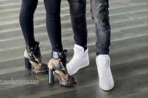 سوژه شدن کفشهای خاص مسی و همسرش!