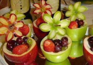 ترفند درست کردن کاسه میوه ای سیب