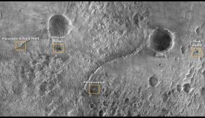 """محل فرود """"استقامت"""" از نگاه مدارگرد شناسایی مریخ"""