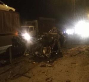 حادثه تریلی با ۲ کشته و یک زخمی در جاده سوادکوه