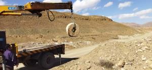 کشف سنگ آسیاب ۲۵۰ساله در محلات